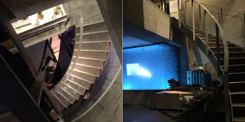 staircase is spiral-shaped