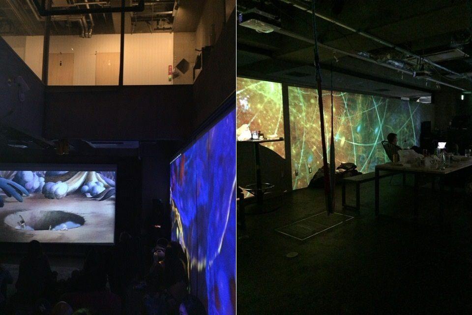 挑高的空間和投影機效果讓看電影氣氛更好