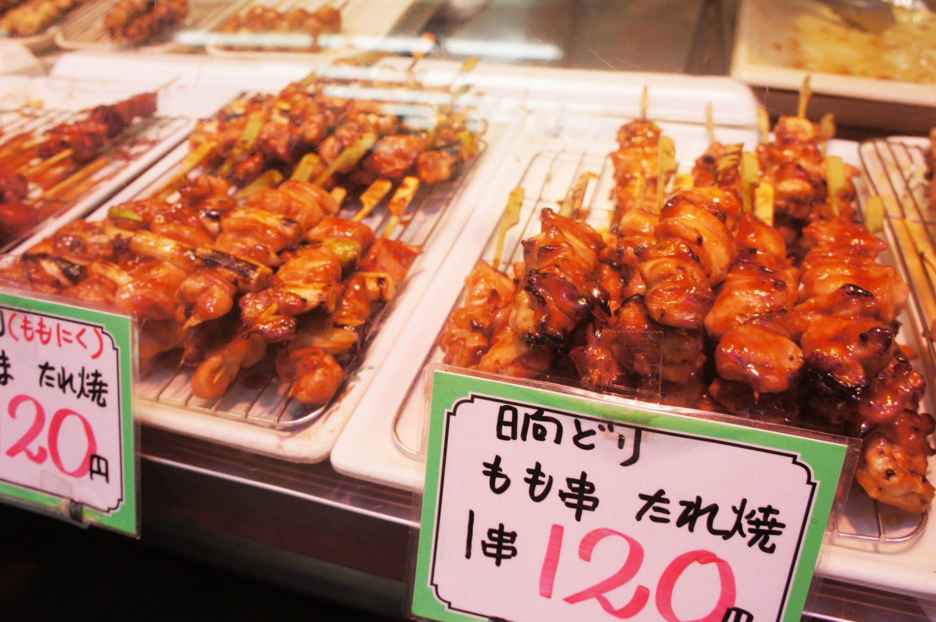 烤鸡肉串的店家