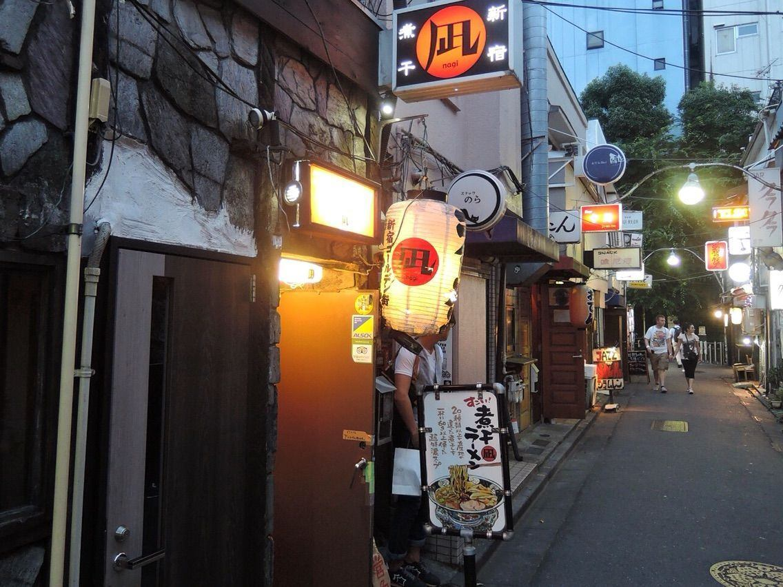 Nagi, a local famous ramen restaurant in Shinjuku Golden Gai strongly reminiscent of the history