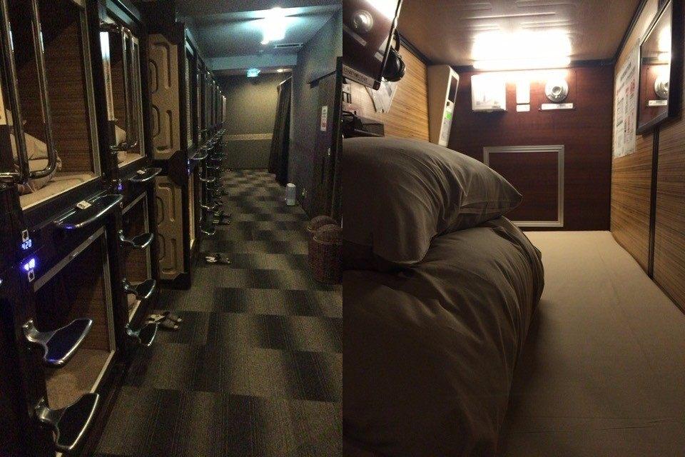 方形宽敞的胶囊型客房(配有空调)