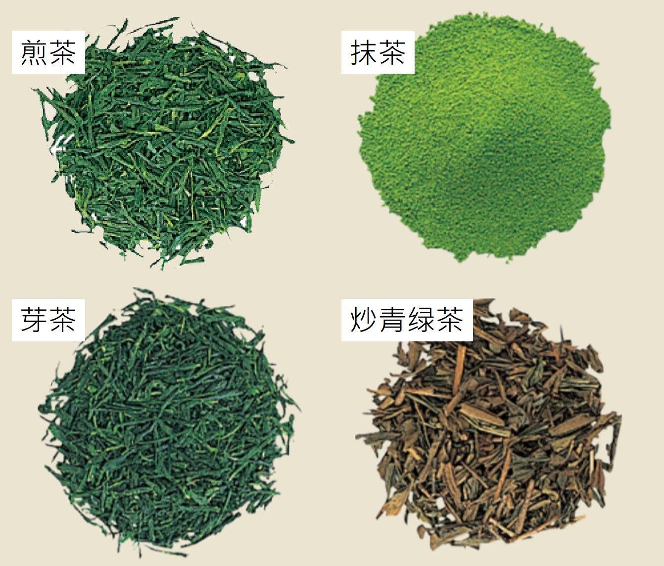 就算是同一種綠茶也會因製作方式不同而有別的名稱