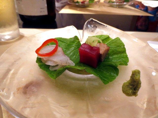 刺身拼盤「兩種鮮魚拼盤」