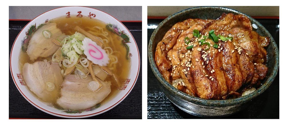 喜多方拉麵700日圓 、豬肉丼700日圓