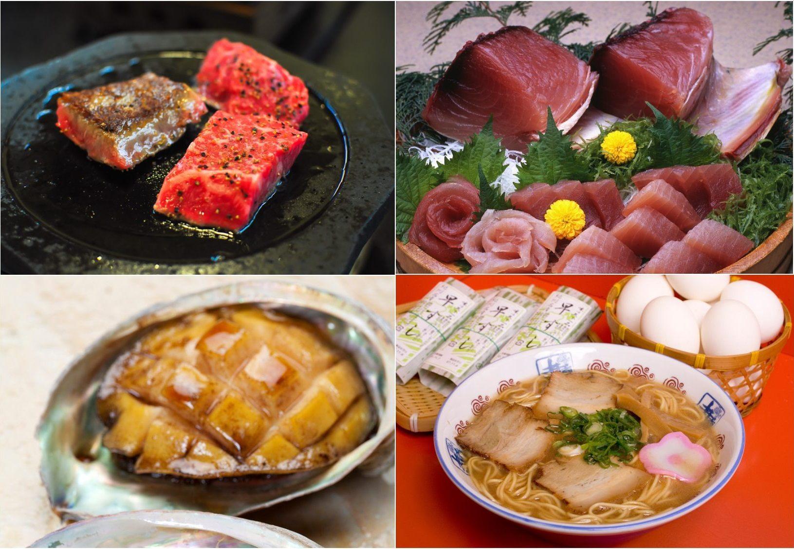 松阪牛、生鮪魚、鮑魚、拉麵等著名美食
