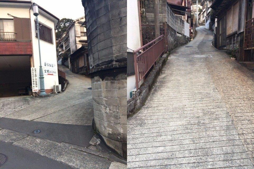 狹窄的坡道