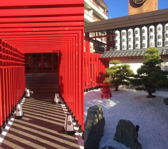 看似伏見稻荷神社的紅色鳥居
