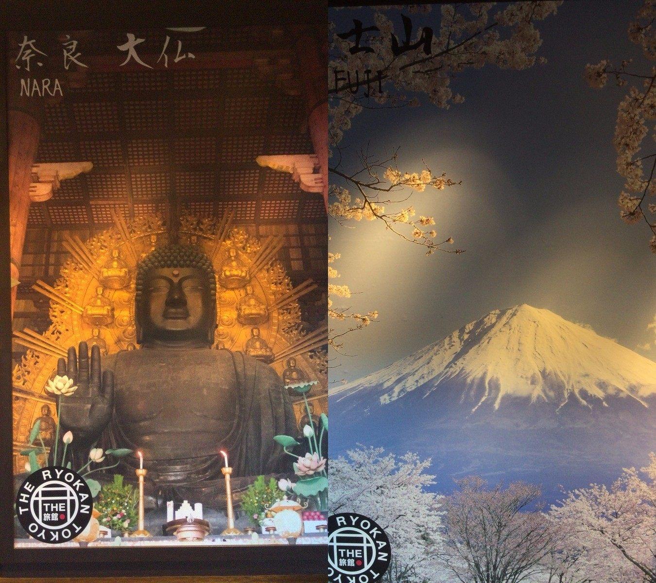 日本名所的照相背板
