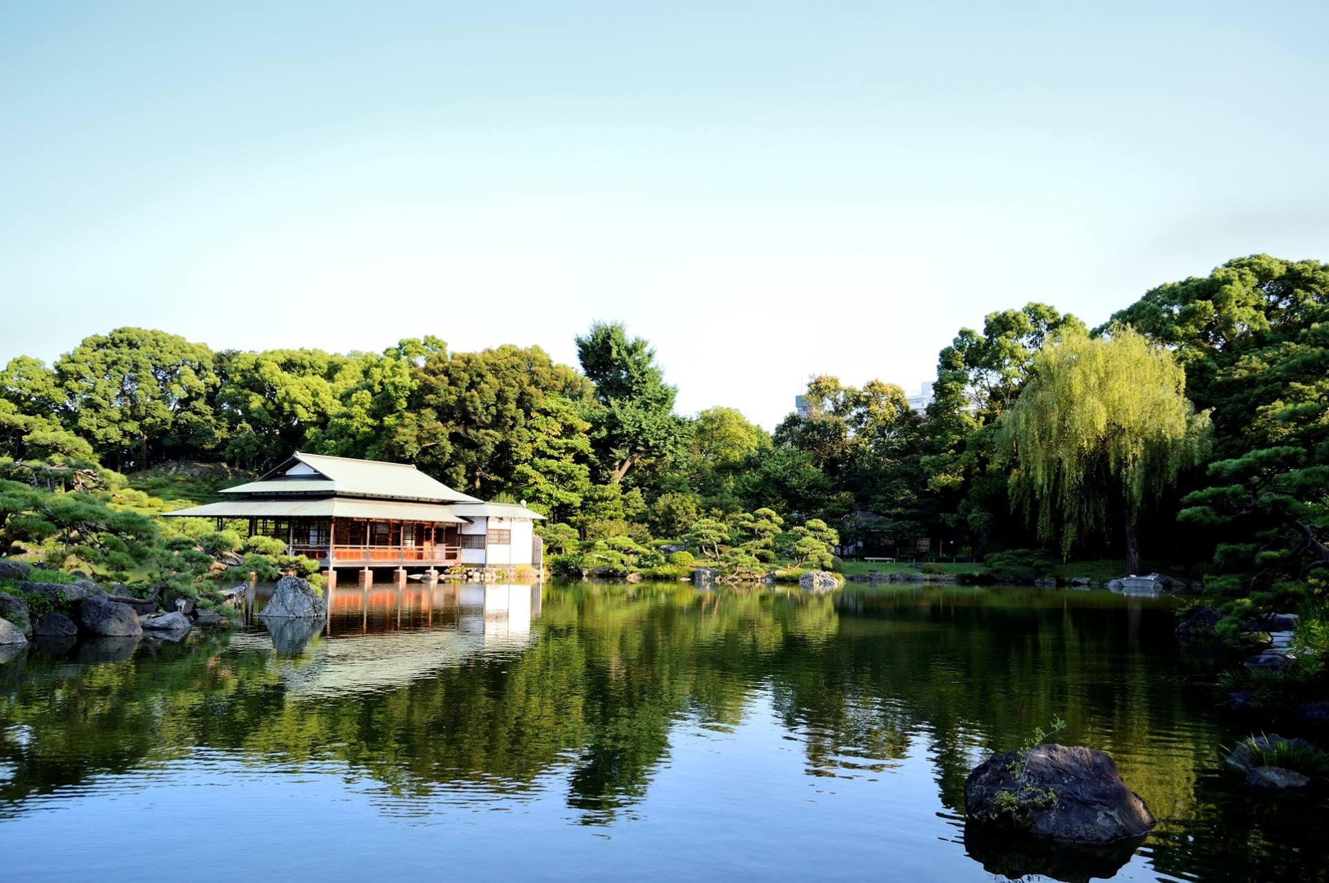 回游式林泉庭园的「清澄庭园」