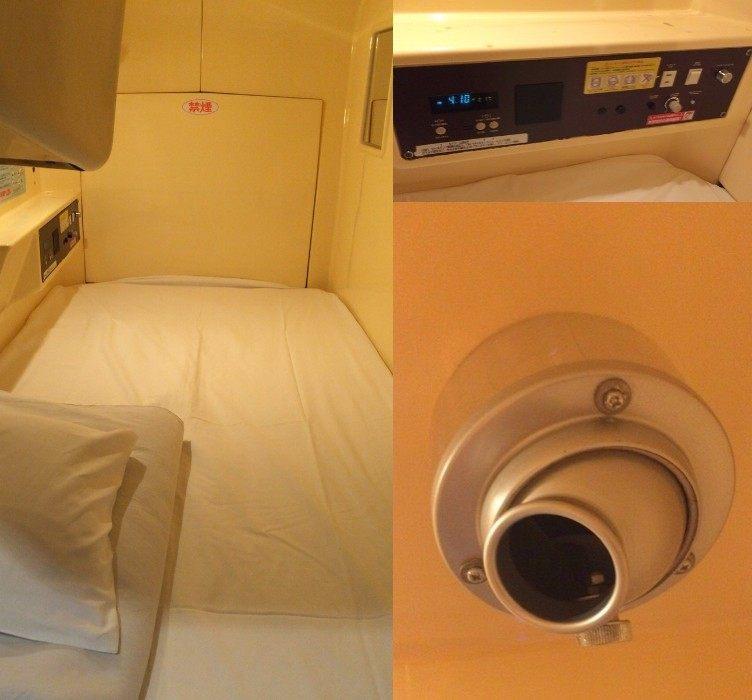 胶囊旅馆内部 (图片右下方为出风口)