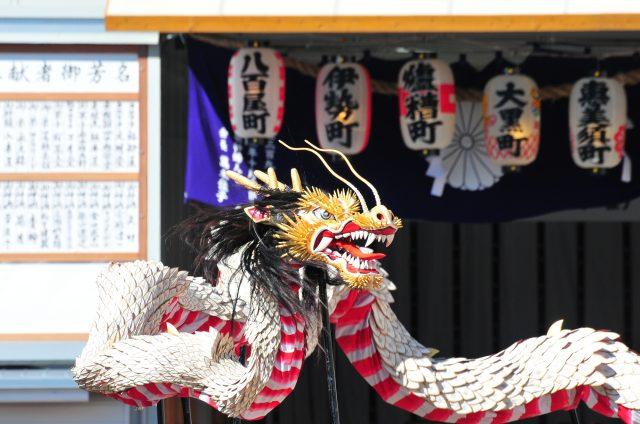 有龍舞營造氣氛的秋季傳統祭祀活動【長崎宮日節】