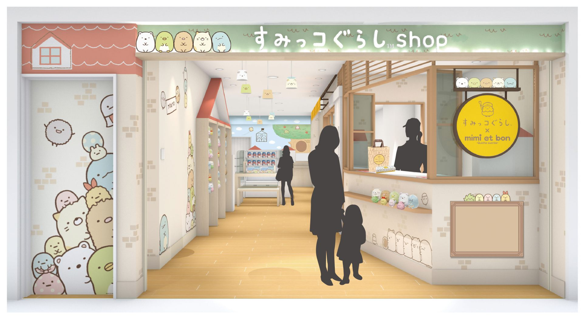 The concept of the shop is a room and the forest of the Sumikko world where you will feel at ease and rejuvenated ♪