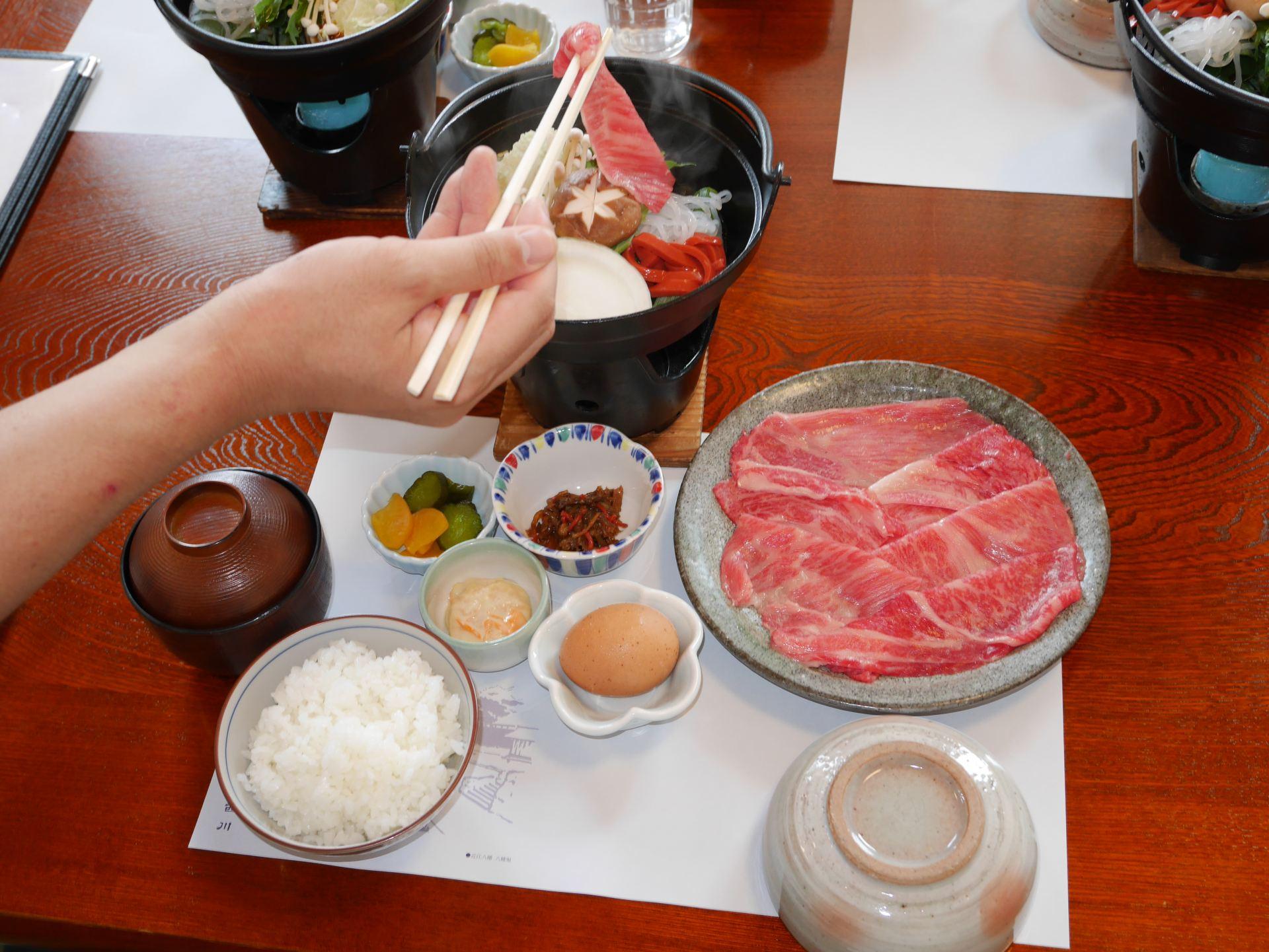 近江牛壽喜燒套餐 3780日圓(含稅)