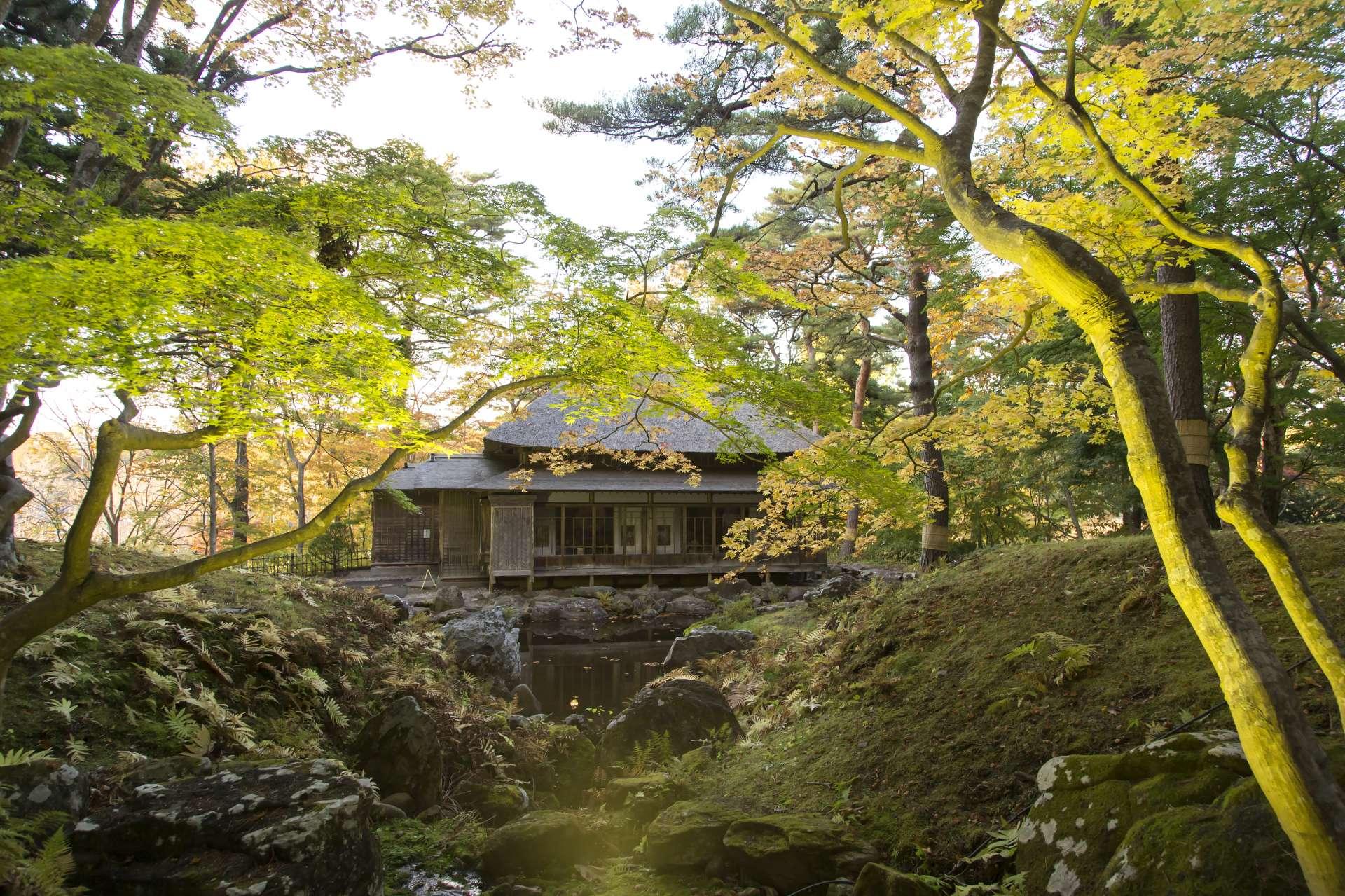古香古色的日式庭園