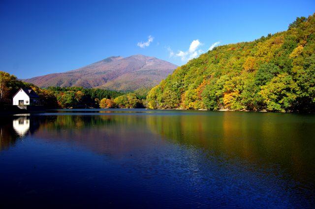 【宫城红叶景点】在「长老湖」欣赏枫红如火的红叶和南藏王的名峰!