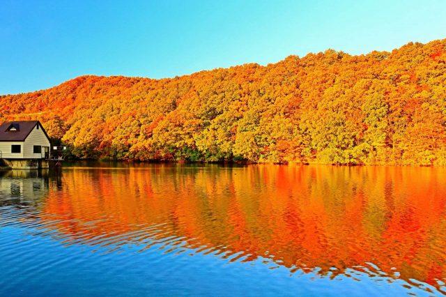 Choroko Lake in mid-fall