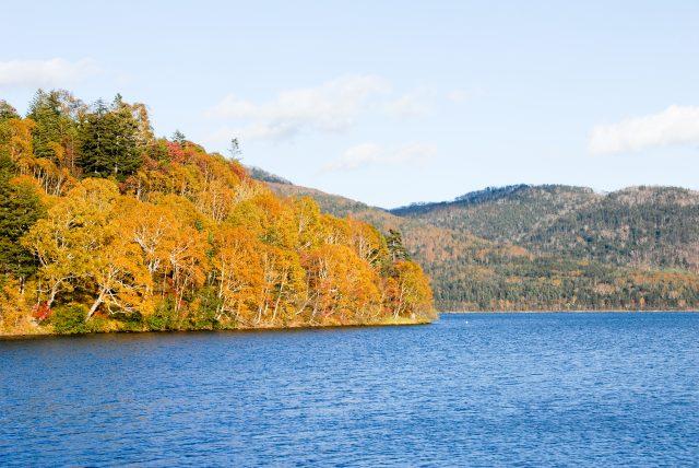 满湖秋色的糠平湖