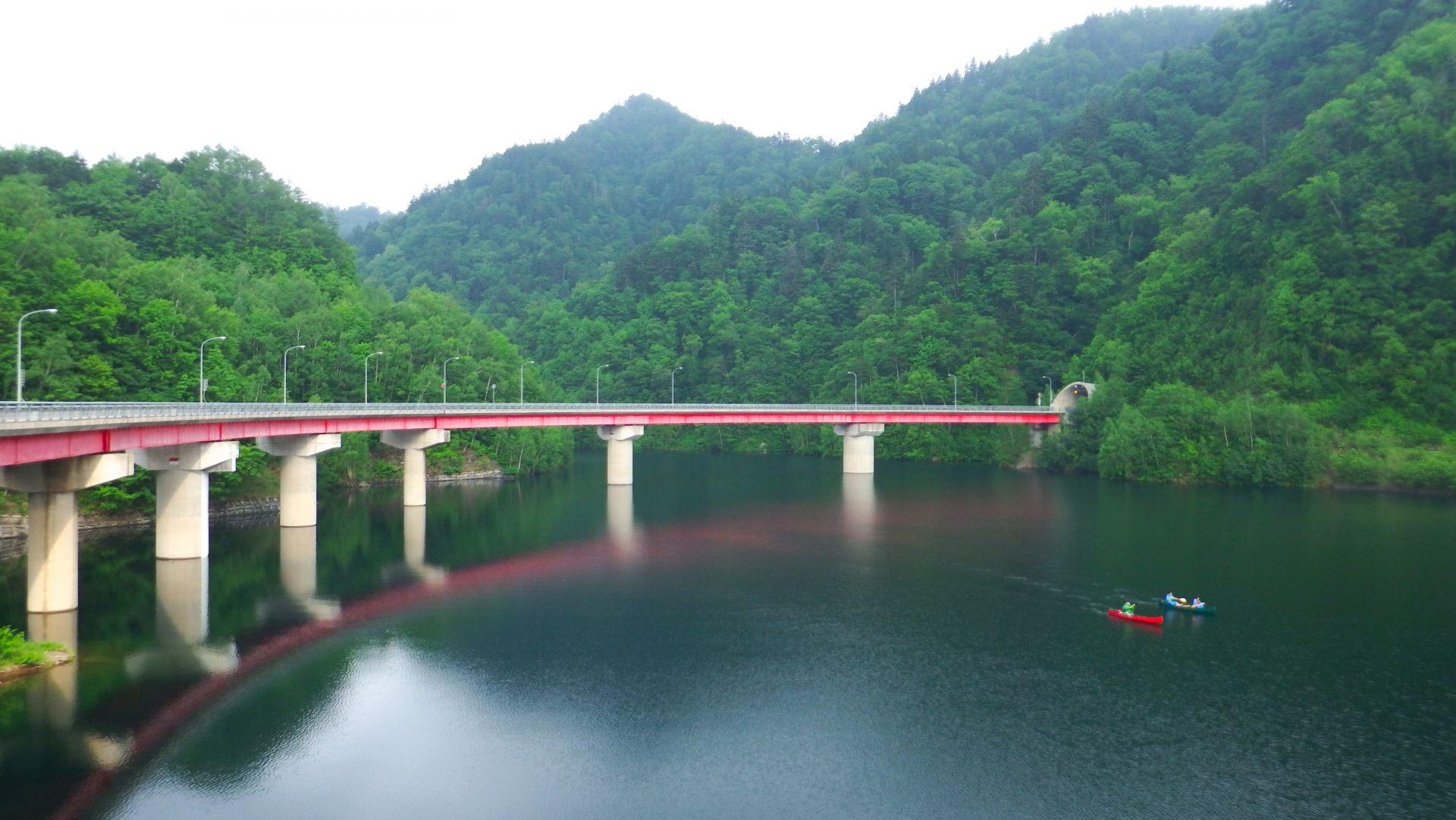 夏天定山溪的:札幌湖