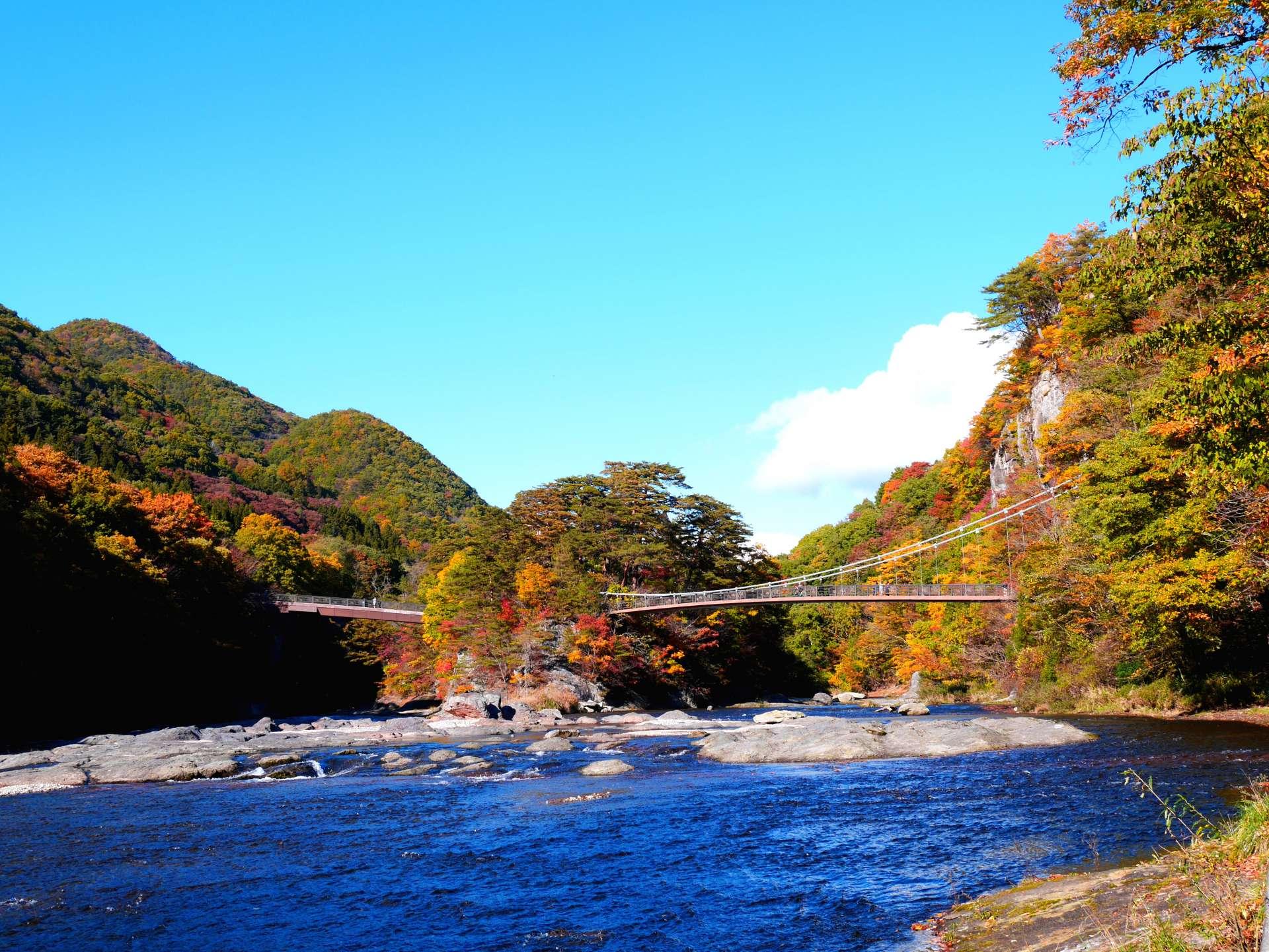 Fukiware-bashi and Ukishima-bashi