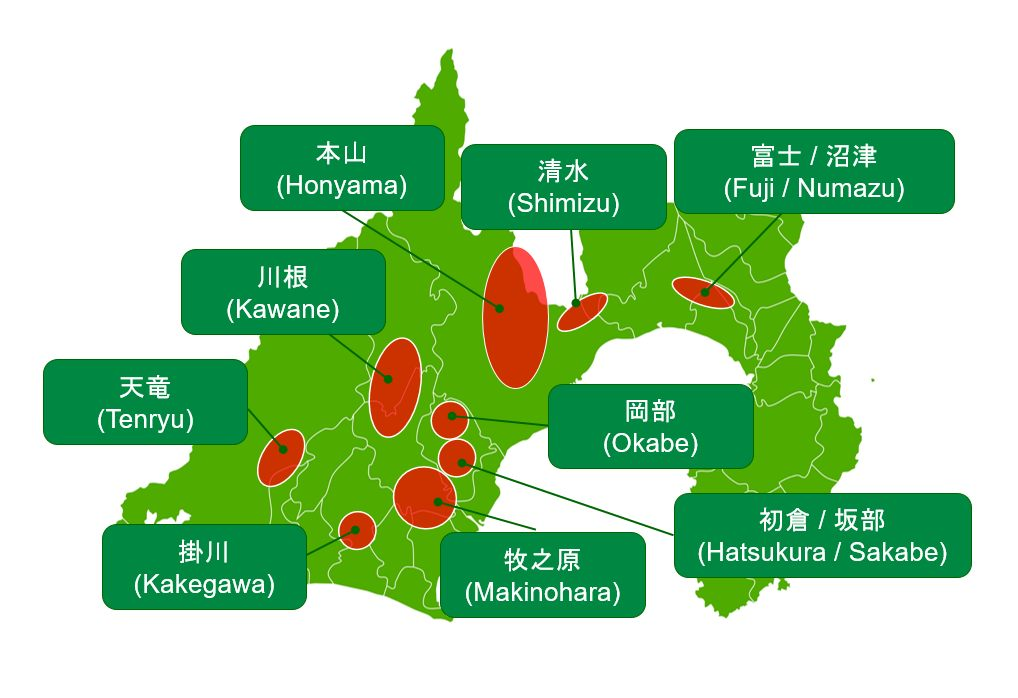 No matter where you go in Shizuoka Prefecture, you will see a tea-producing area.
