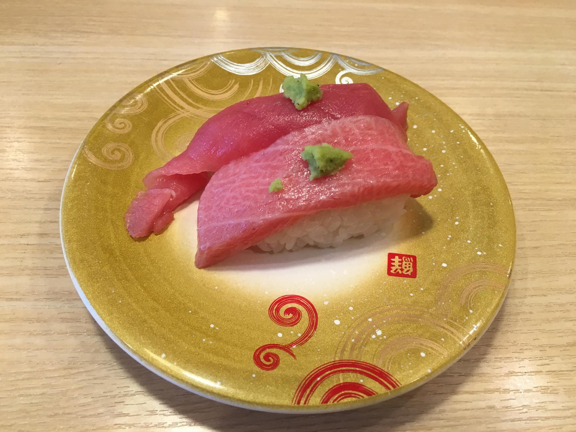 肉多脂厚的鮪魚(190日圓)