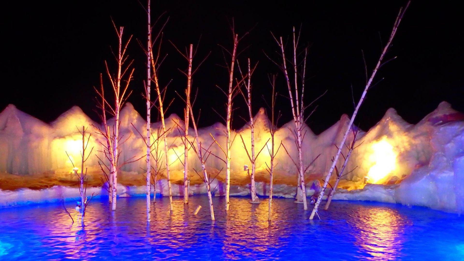 支笏湖藍色水池