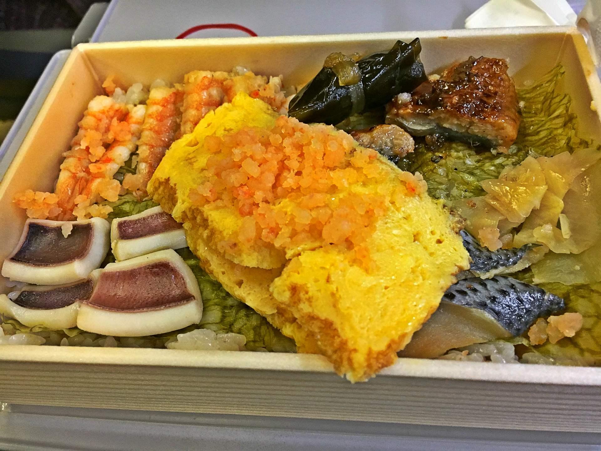 Appetizing railway boxed mea