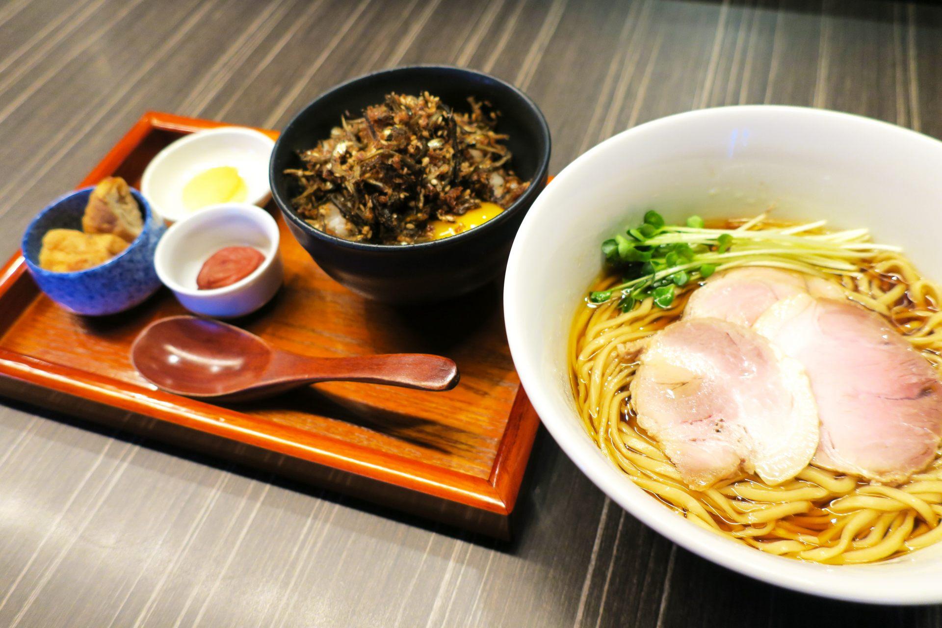 拉麵+自家製佃煮御飯套餐(追加500日圓)