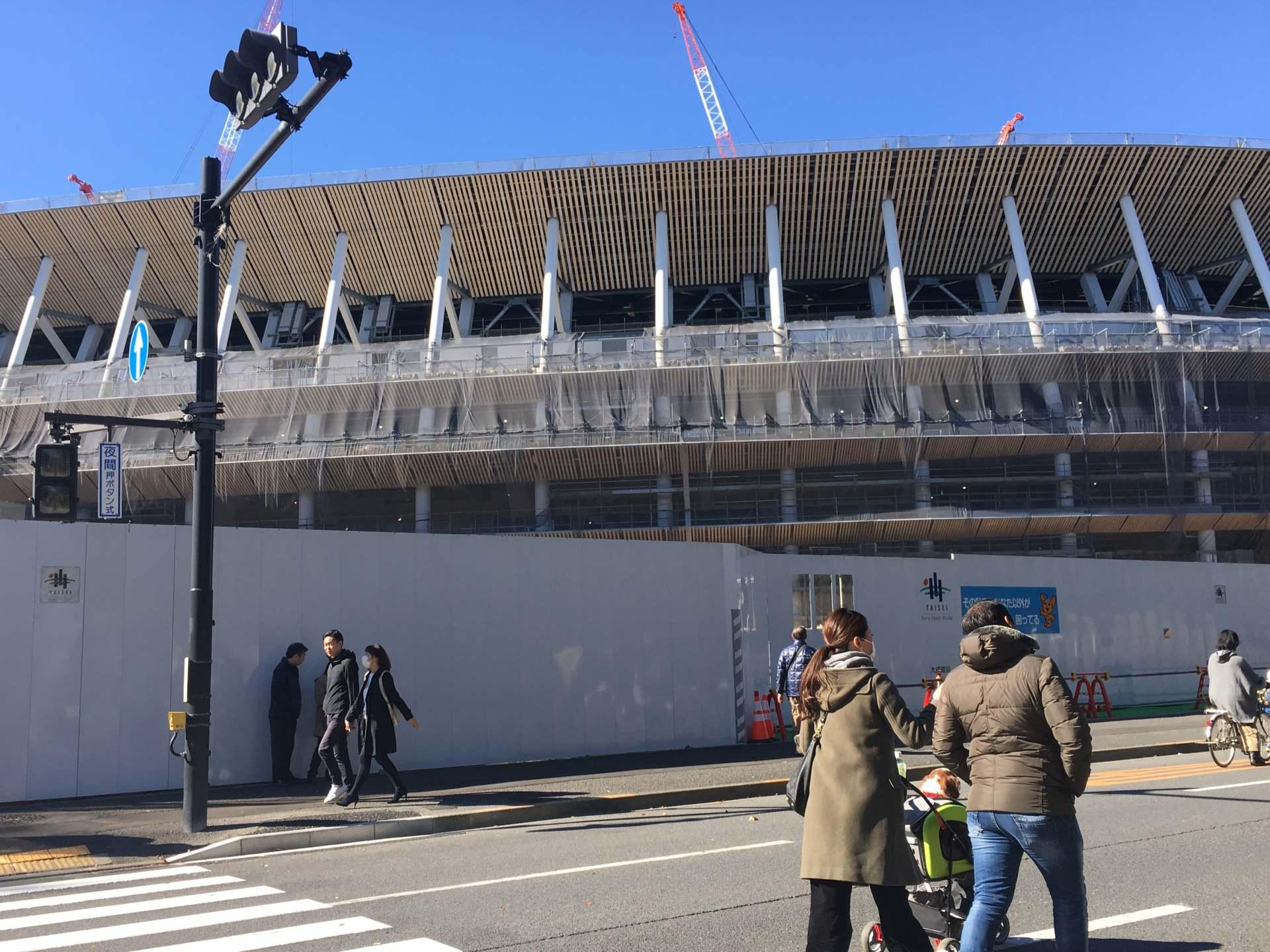 正在改建中的2020年东京奥运新国立竞技场