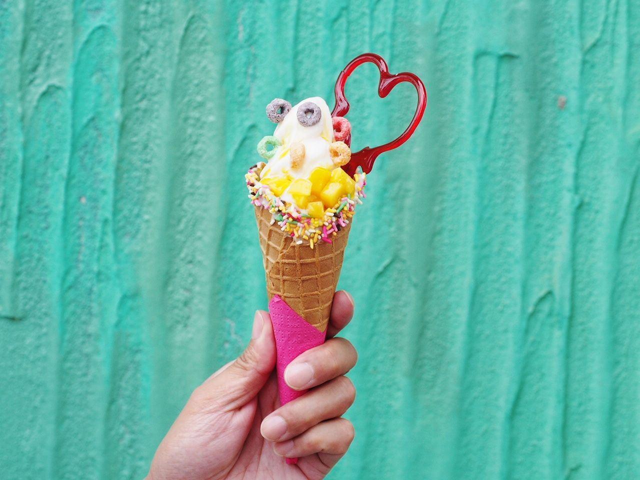 芒果優格霜淇淋