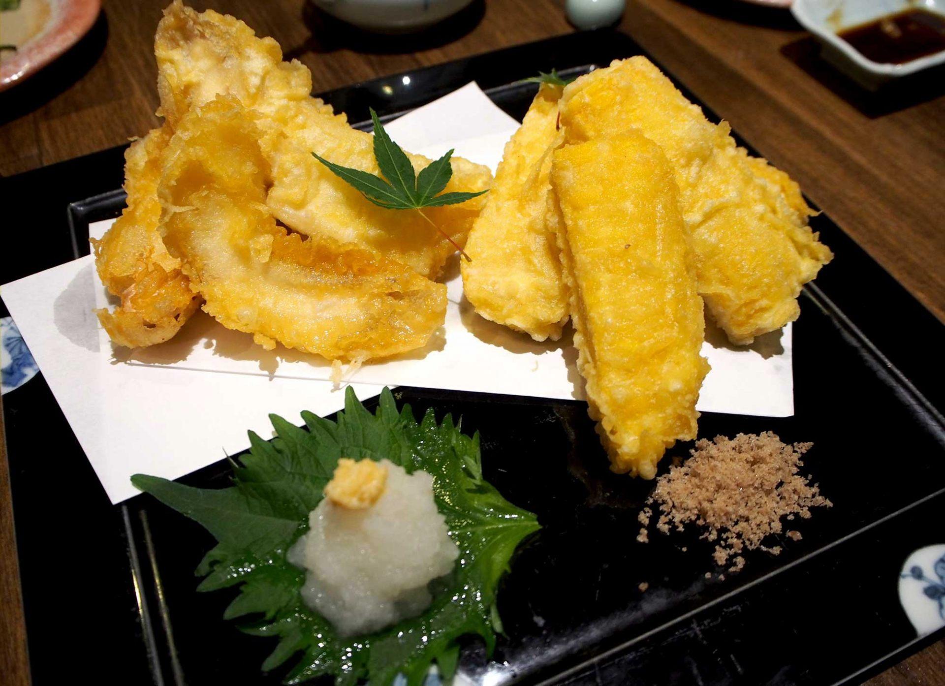 鯖魚・玉米的天婦羅