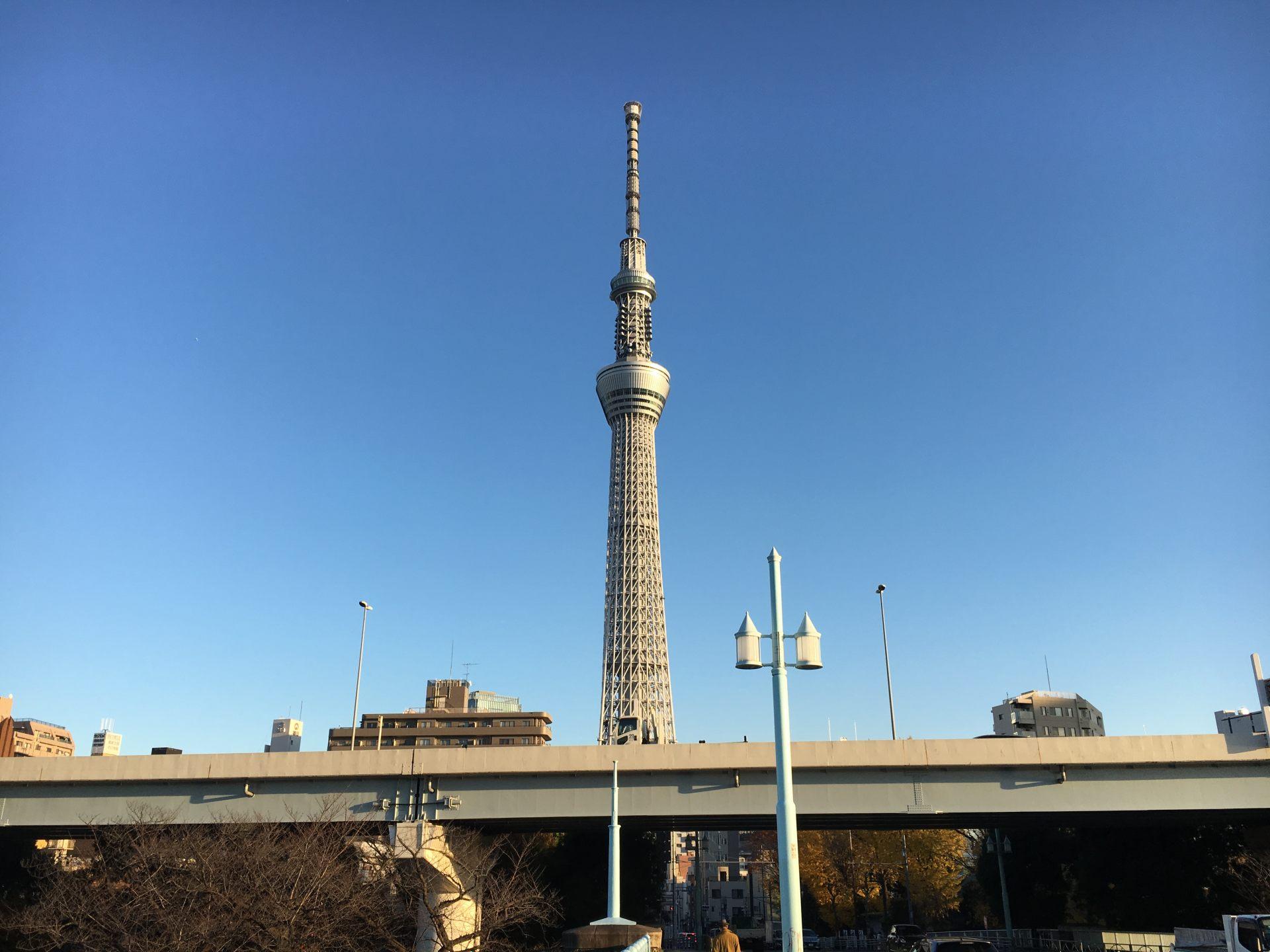 从言问桥附近观赏东京晴空塔