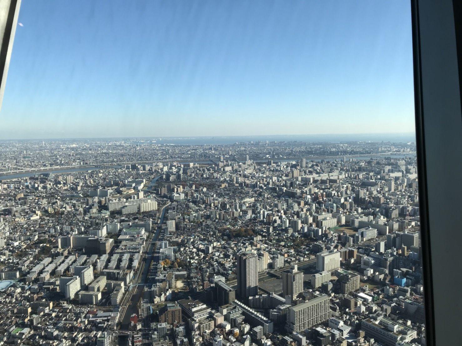 从天望回廊上鸟瞰东京全貌