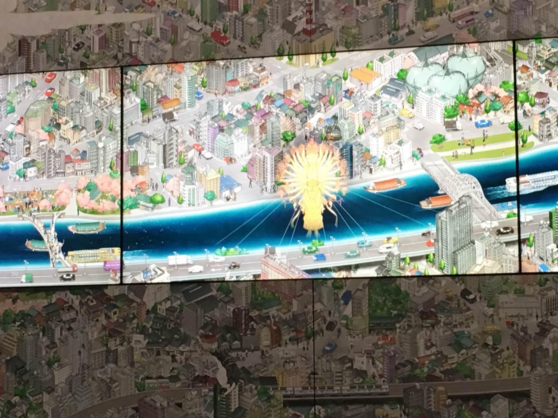 隅田川数码画卷中标出的浅草寺