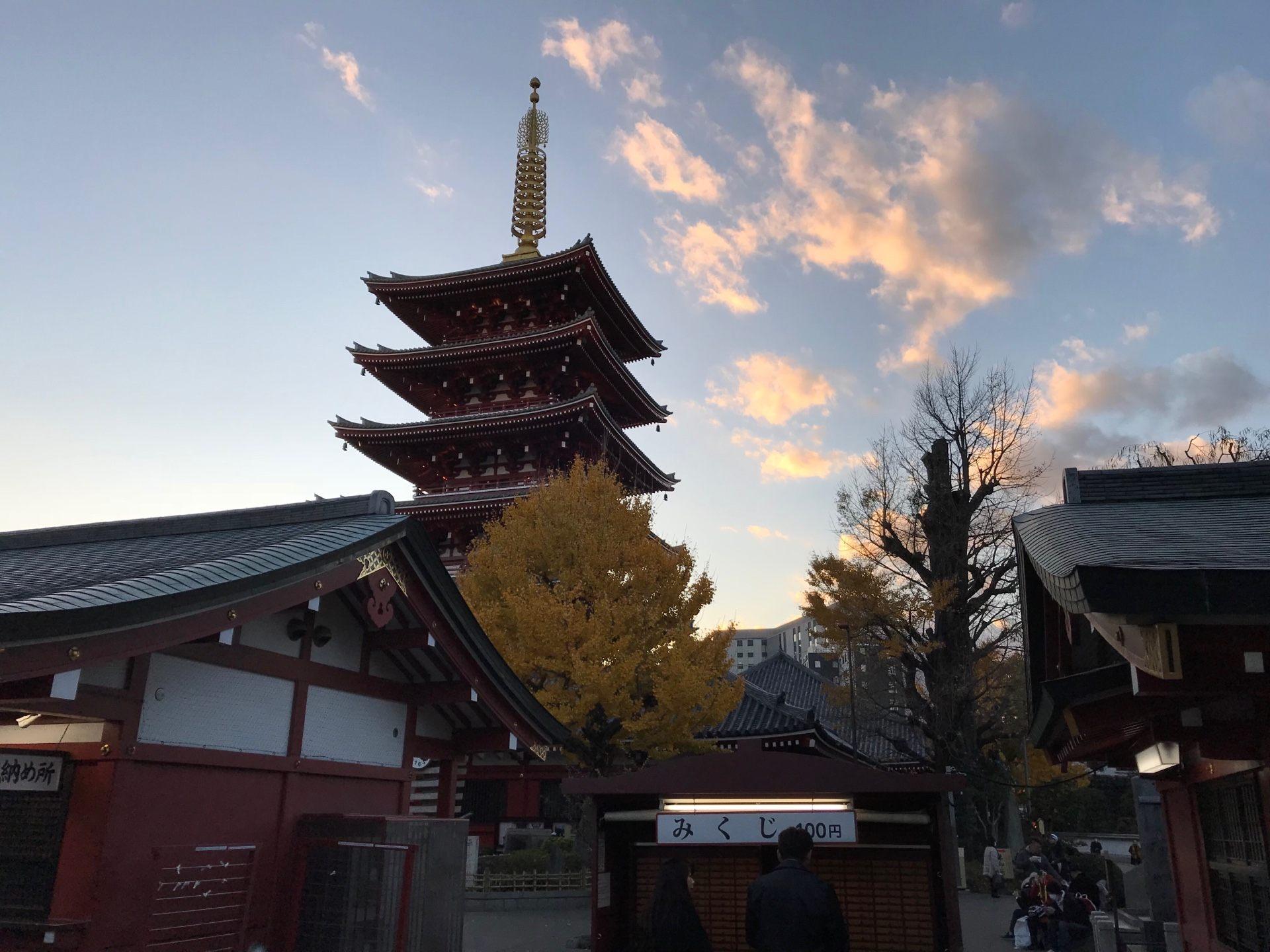 浅草寺人气景点五重塔