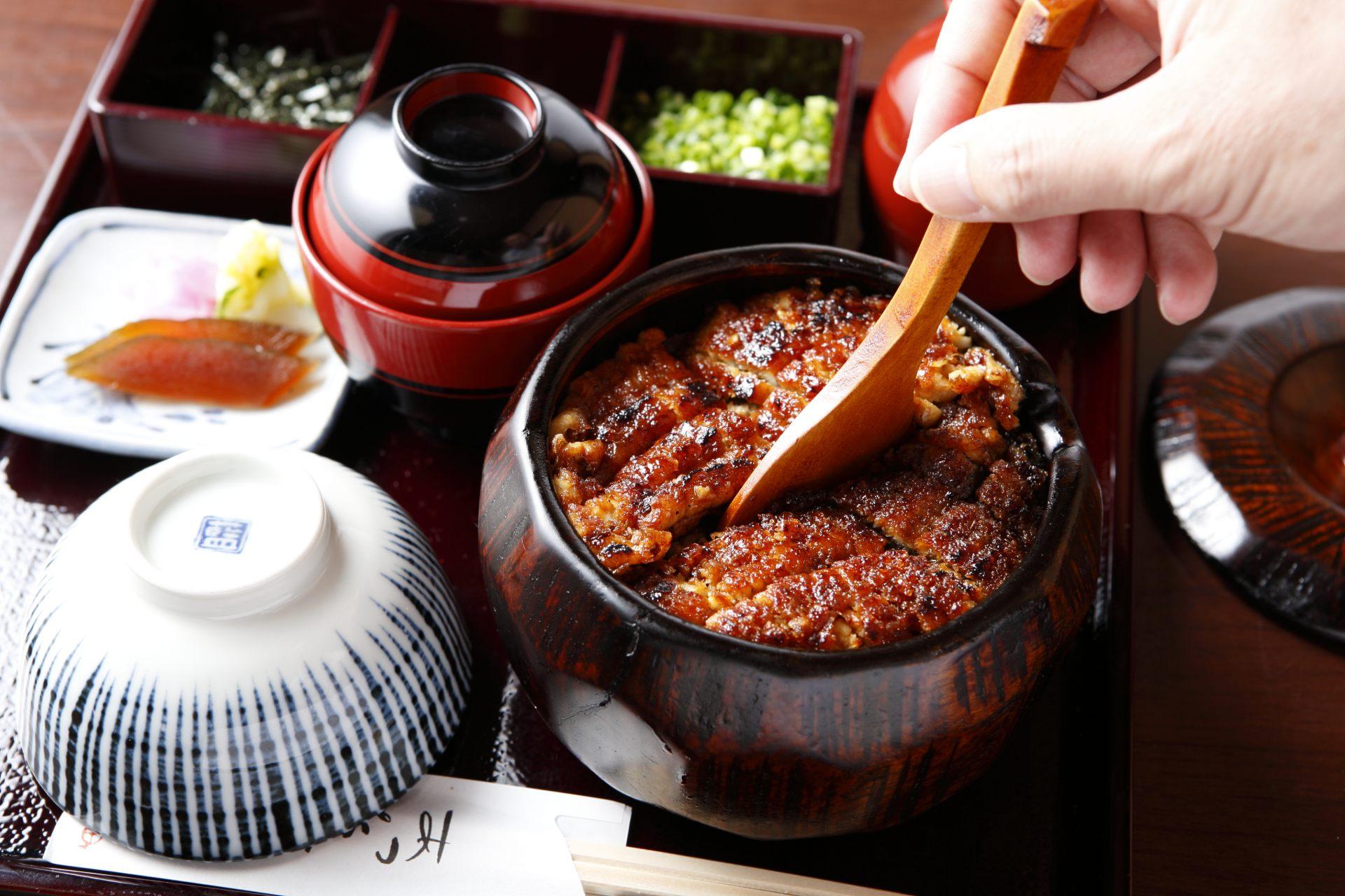 名古屋飯的代表料理「HITSUMABUSHI鰻魚飯」