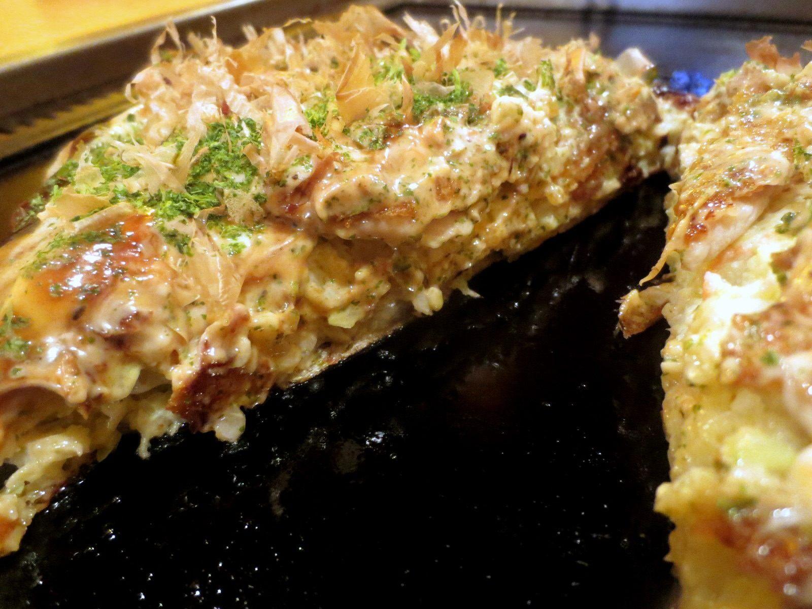 A Cross-section of the Okonomiyaki