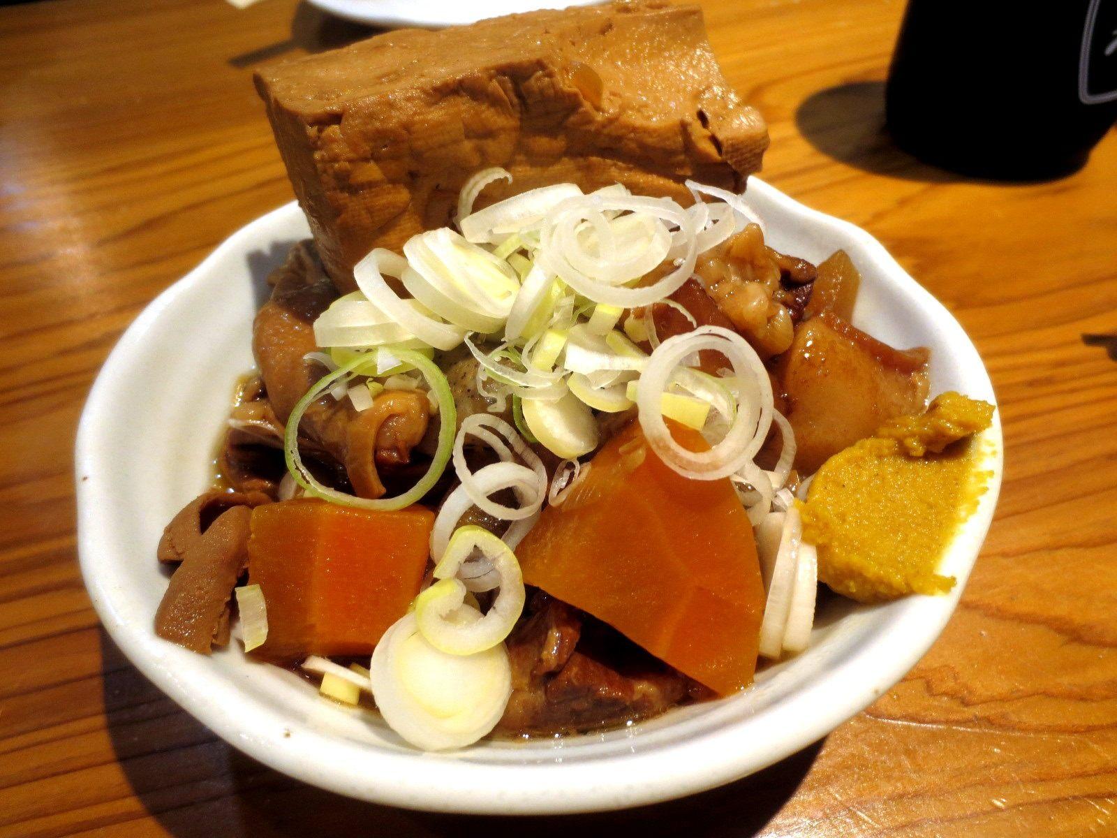 A Full Plate of Motsunikomi
