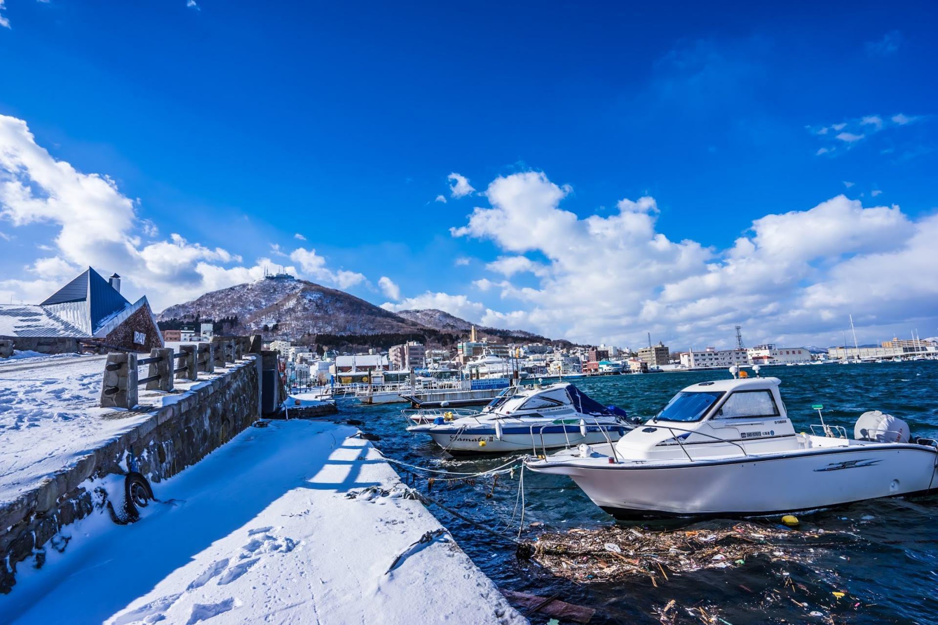 冬日的函馆港风景