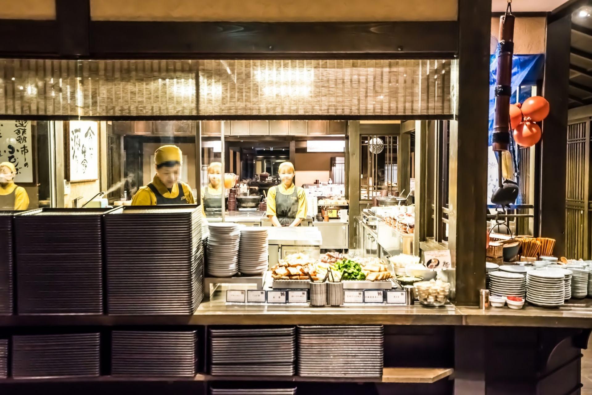 La Vista Hakodate Bay Hotel的奢華早餐