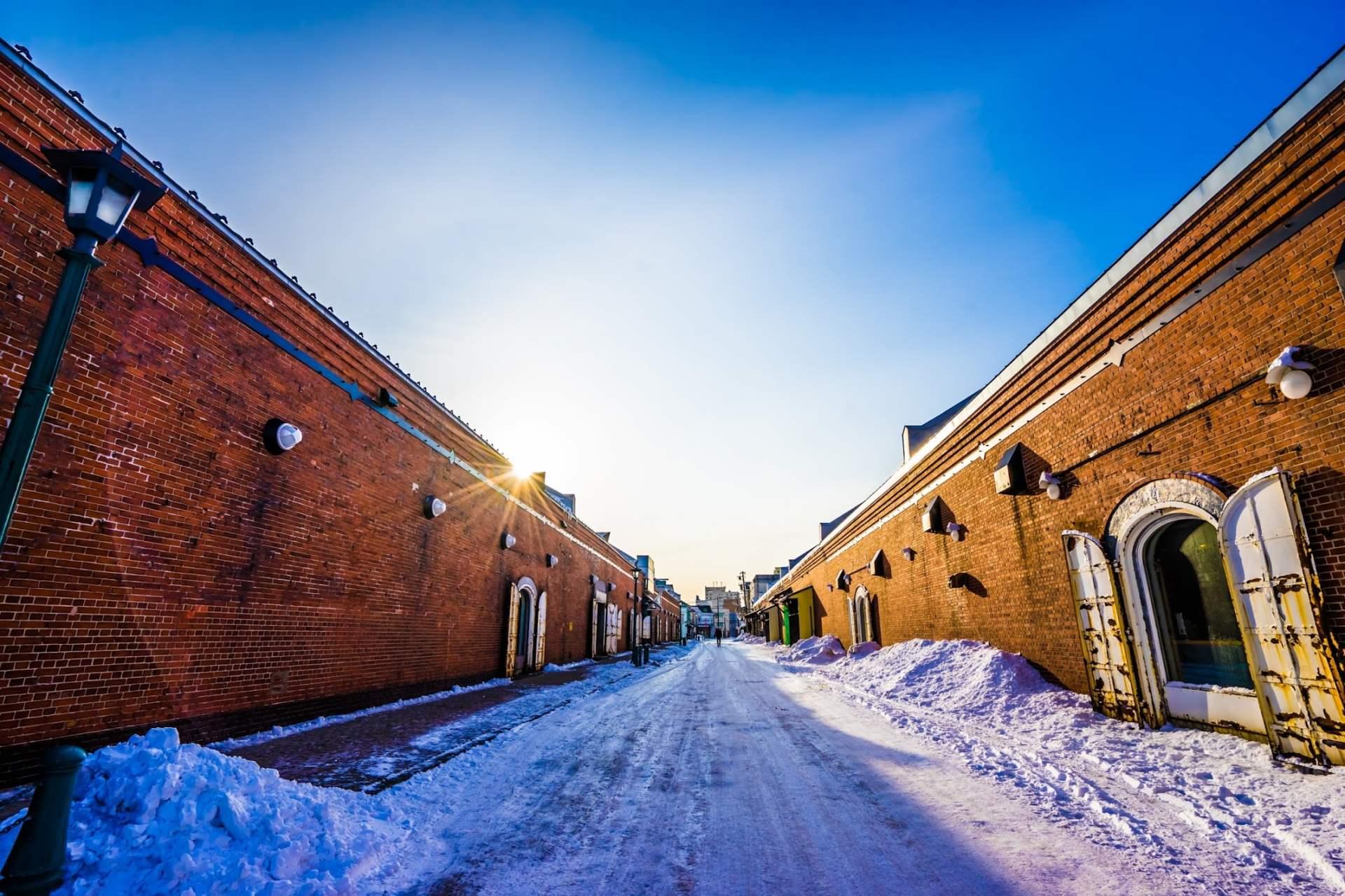 Around Kanemori Red Brick Warehouse