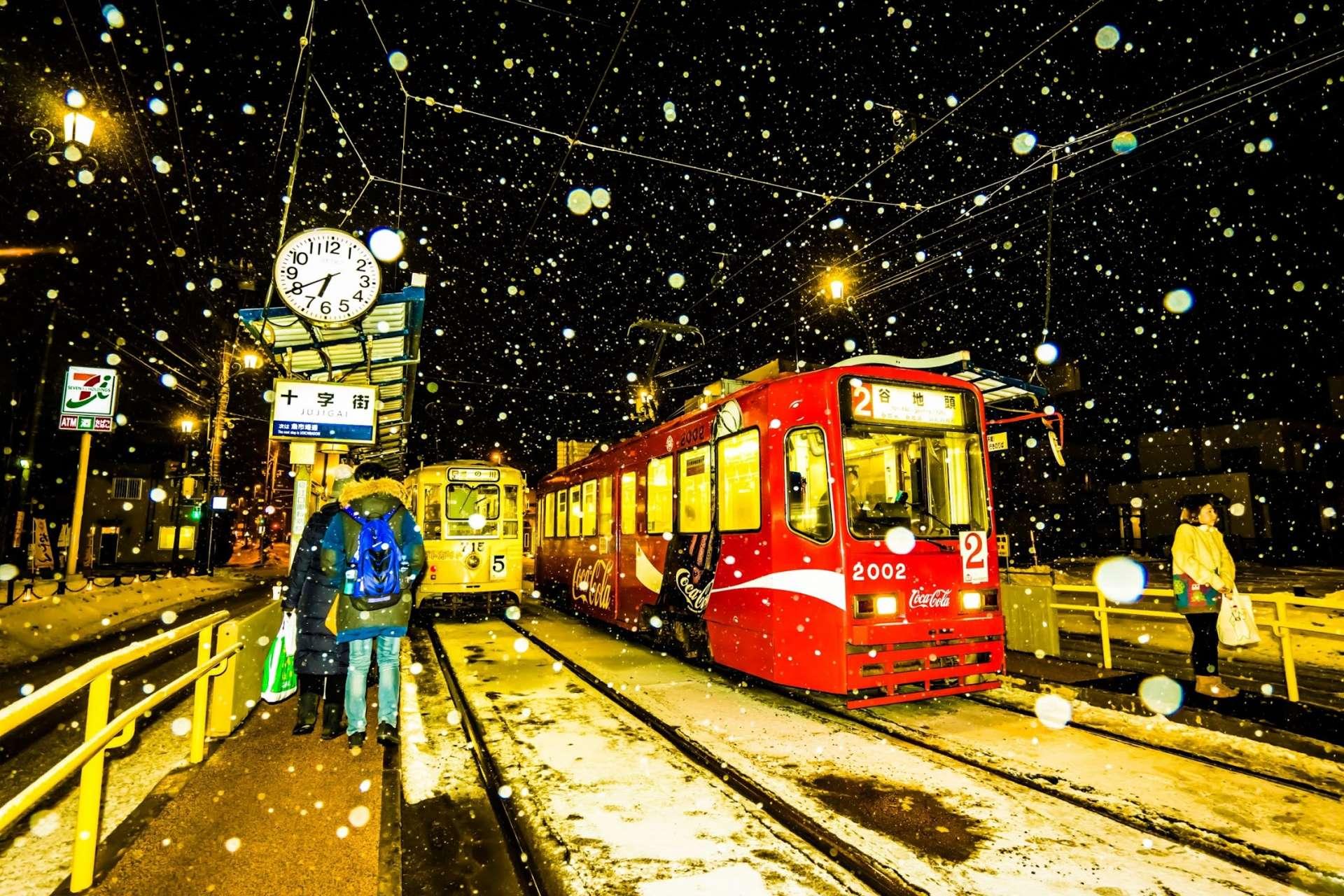 函館雪之夜