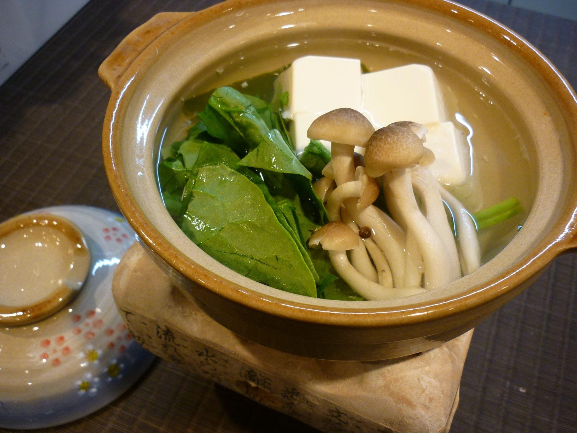 Yudofu (Tofu Hot-Pot, a Kyoto specialty)
