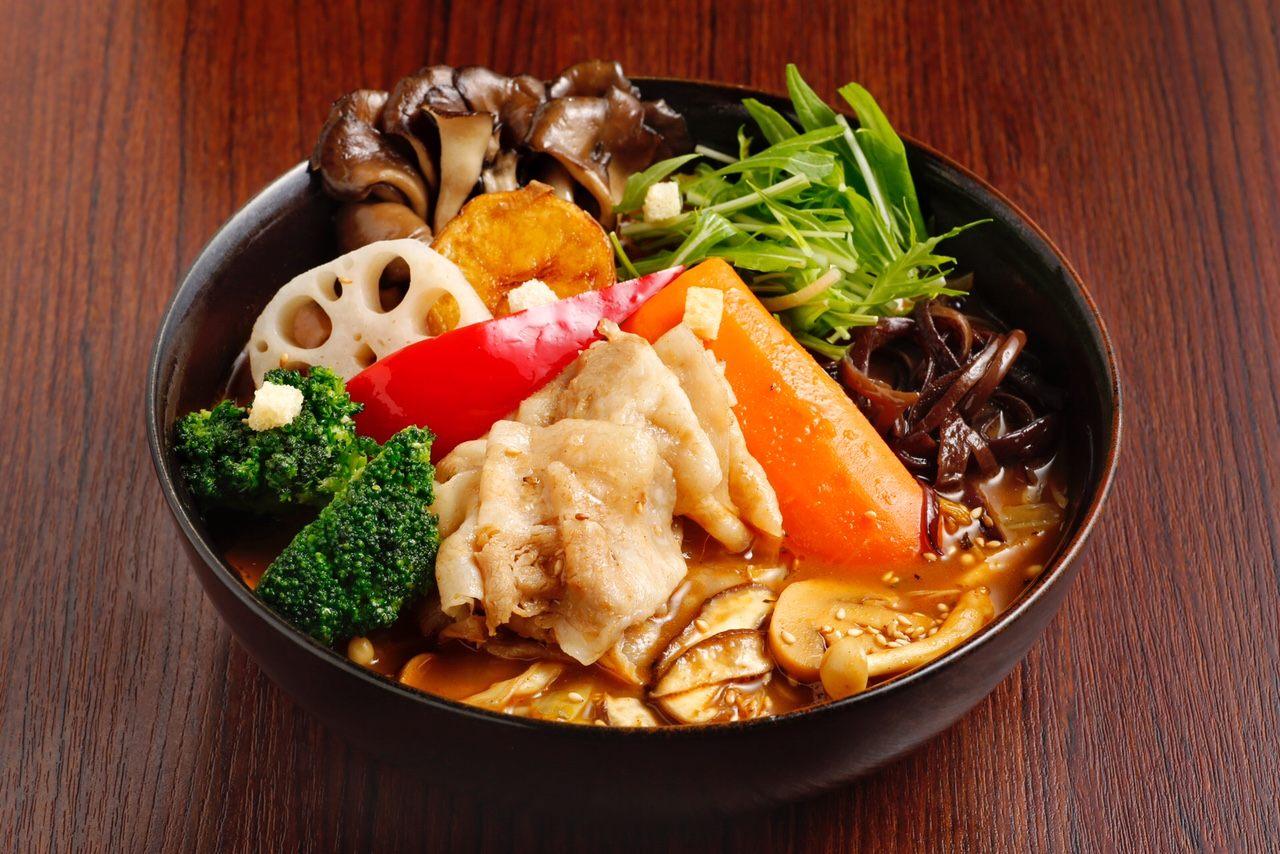 「上富良野薰衣草豬肉涮涮鍋和7種森林蘑菇」 1250日圓