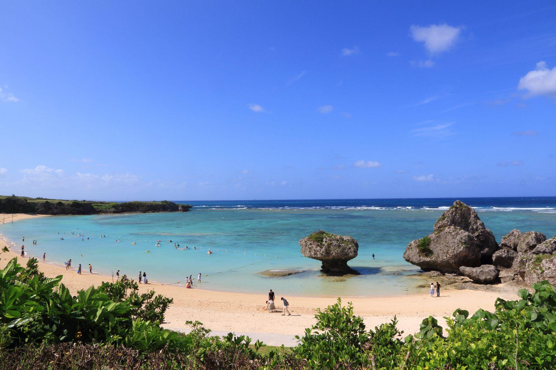 夏天還可以享受海水浴和浮潛
