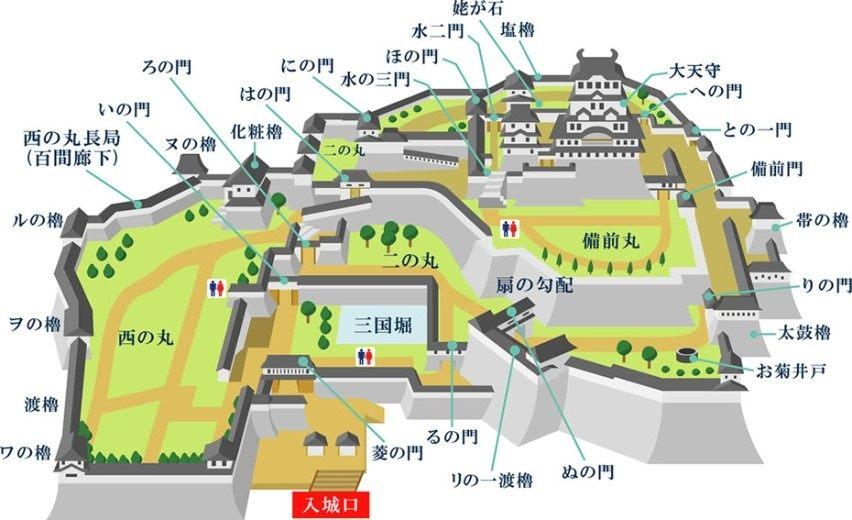 姬路城地图