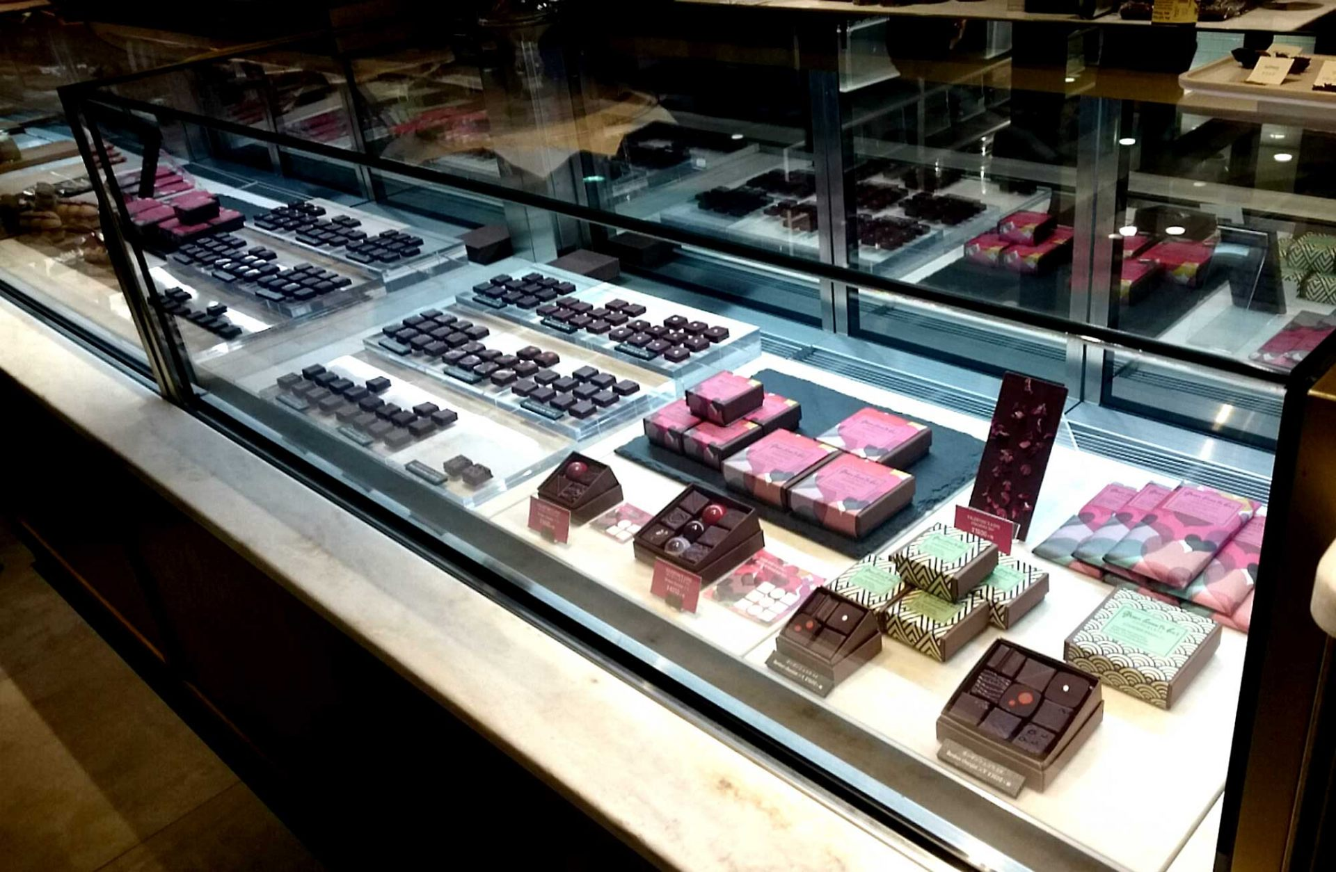 Their chocolate is as beautiful as jewelry, making it so hard to choose!