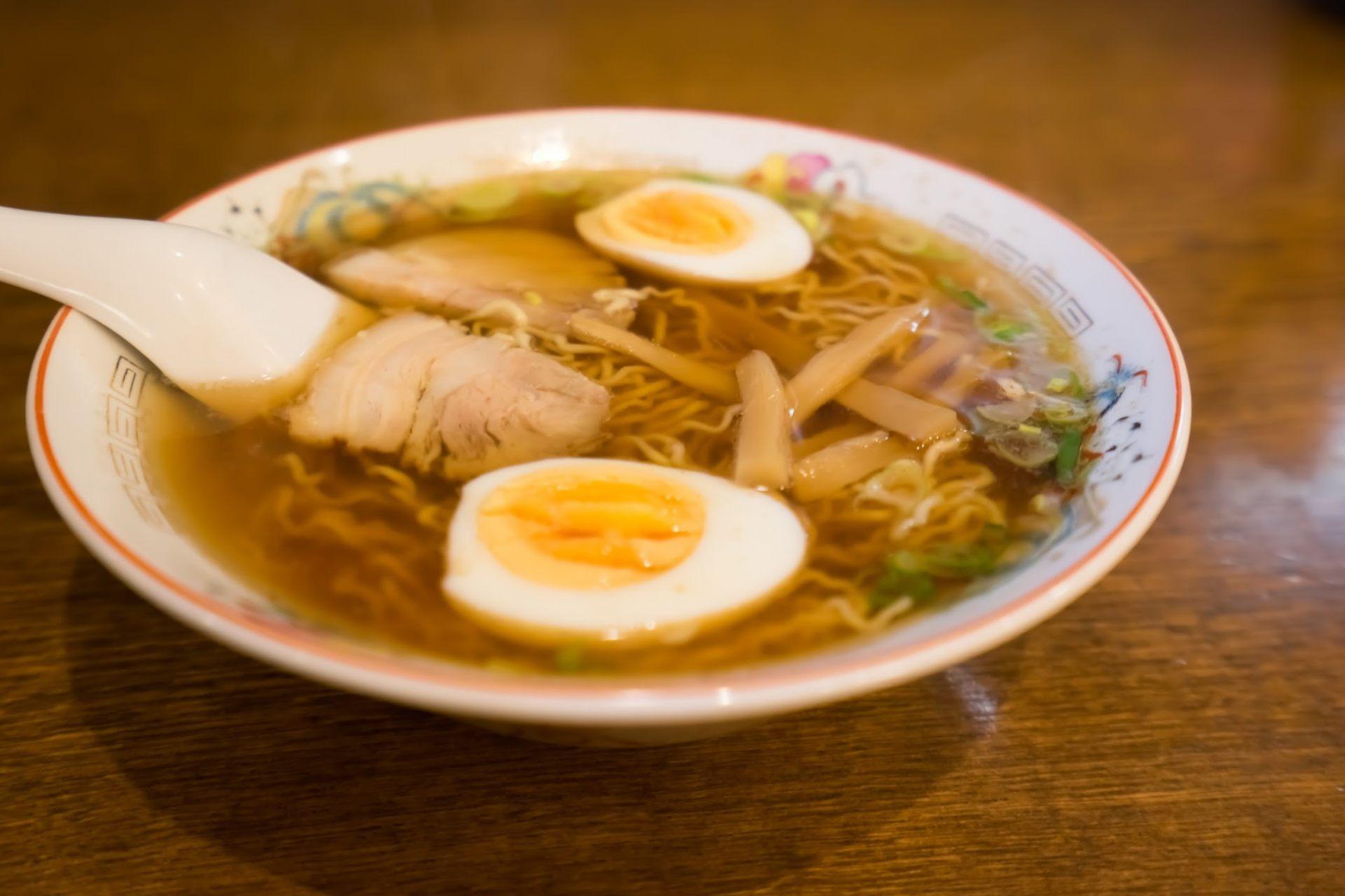 Chuka Soba 700 yen, Boiled Egg 50 yen