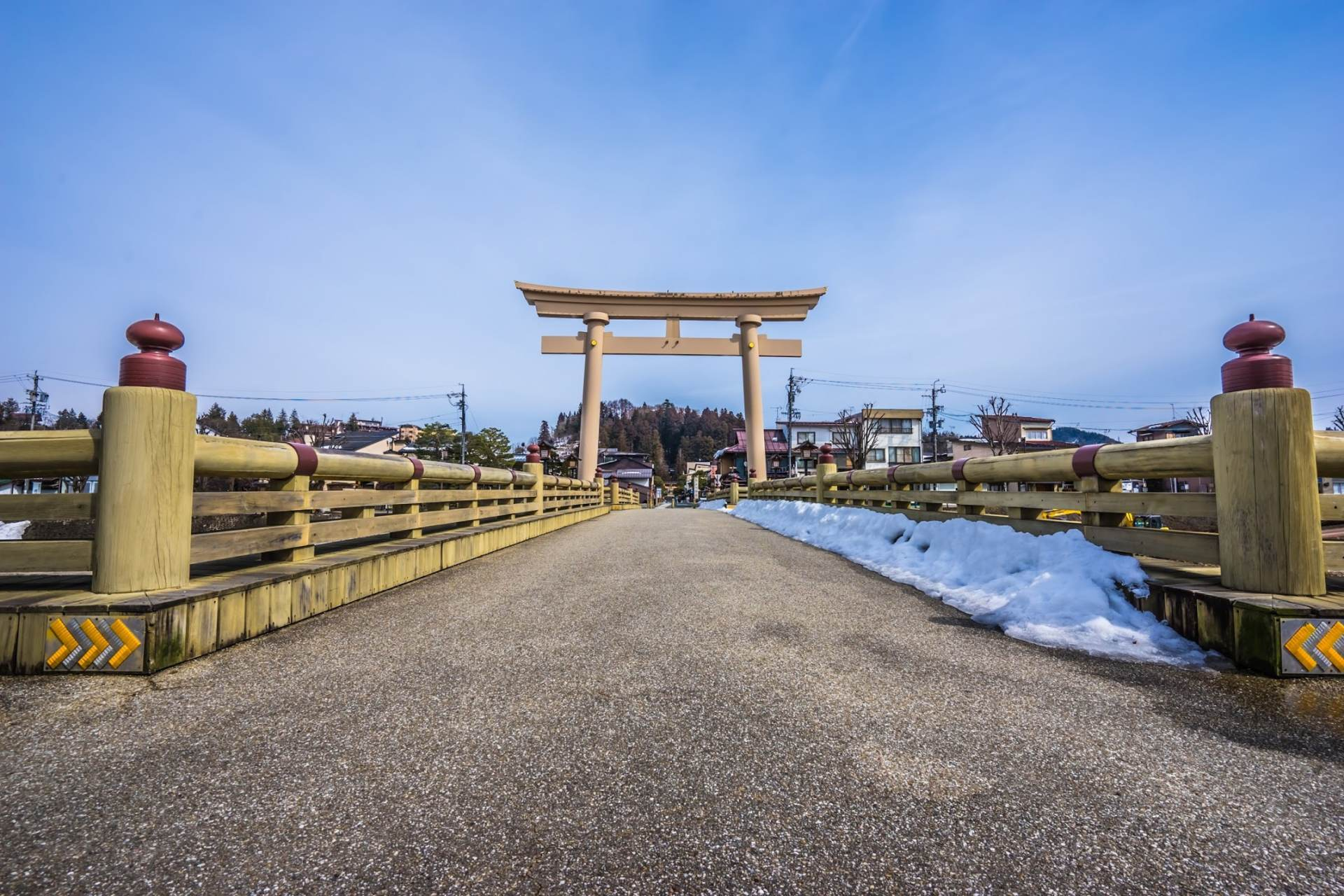 Large Torii Gate Approaching the Shrine