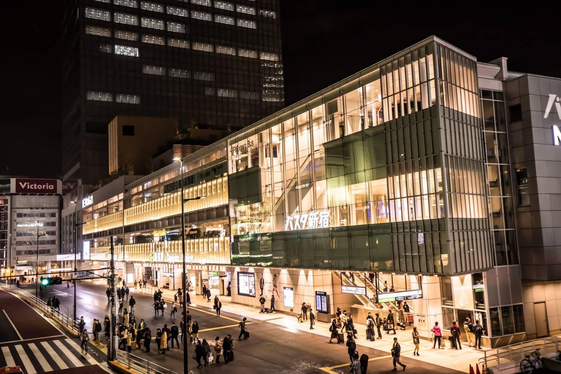 抵達新宿站